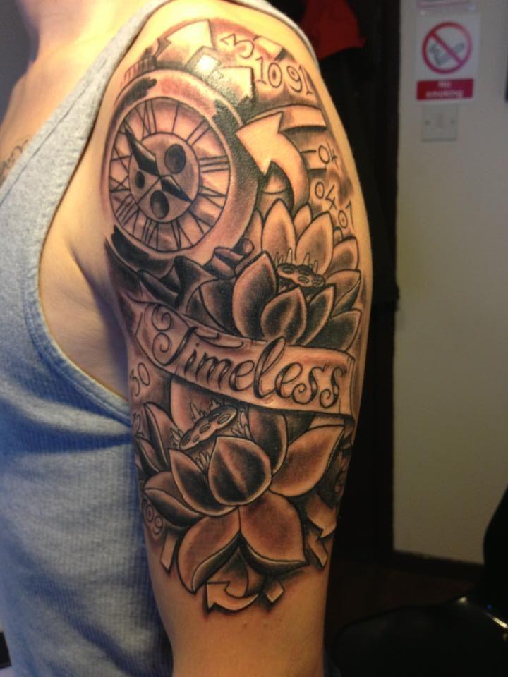 Watch Sleeve Tattoo: Victorian Pocket Watch Tattoo Sleeve