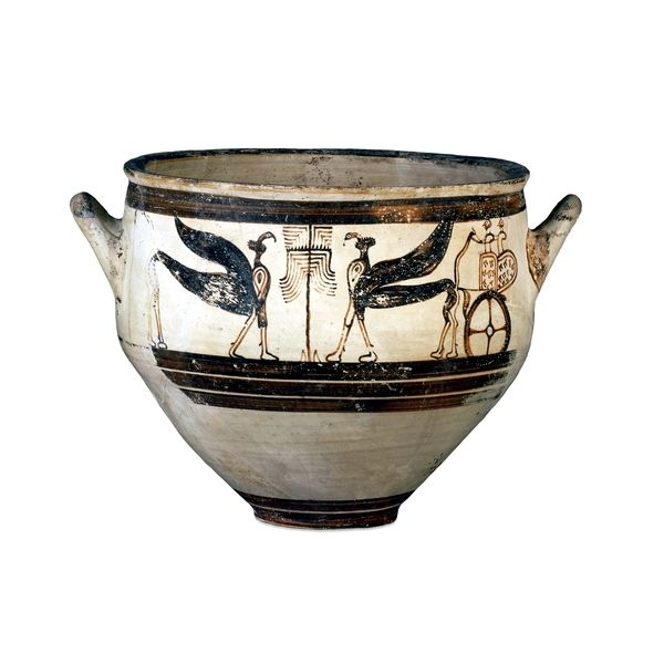 Vaso pittorico decorato con Sfingi e Grifoni,Cultura Micenea, 1300-1200 a.C: H:24 cm., Tomba 48, Enkomi, Cipro