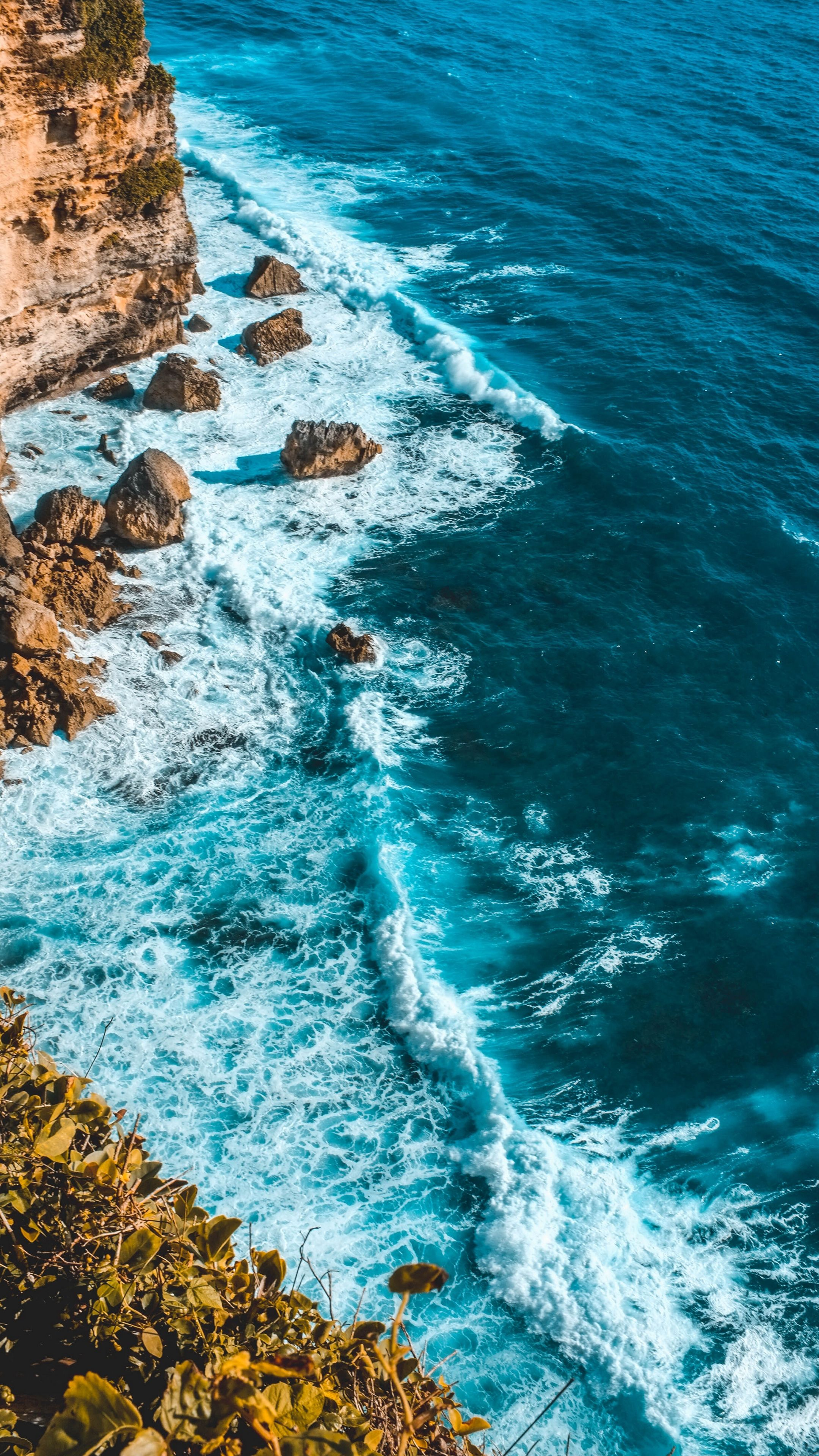 Sea ocean beach aerial iPhone wallpaper HD | Wallpapers & Backgrounds in 2019 | Ocean wallpaper ...