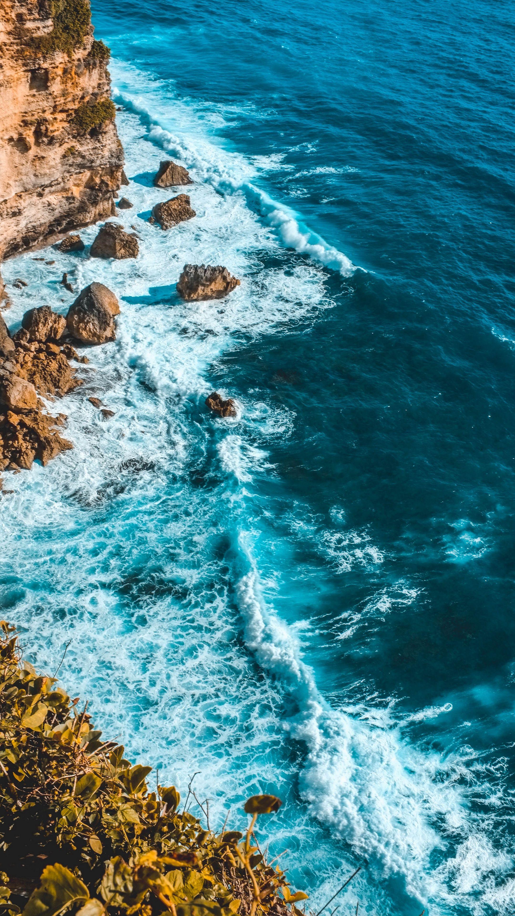 Sea ocean beach aerial iPhone wallpaper HD | Wallpapers & Backgrounds in 2019 | Ocean wallpaper ...