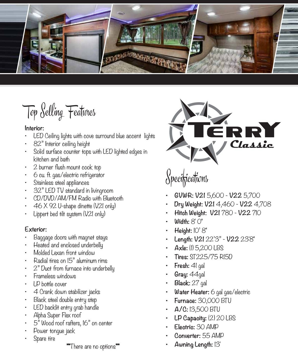 Standard kitchen window height  terry classic features  dolney rv center  pinterest  classic