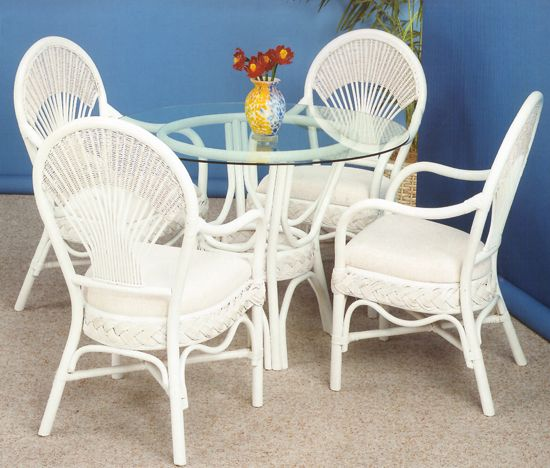 Liberty Rattan Whitewash Dining Suite From Summit Design Wicker Furniture Americanrattan