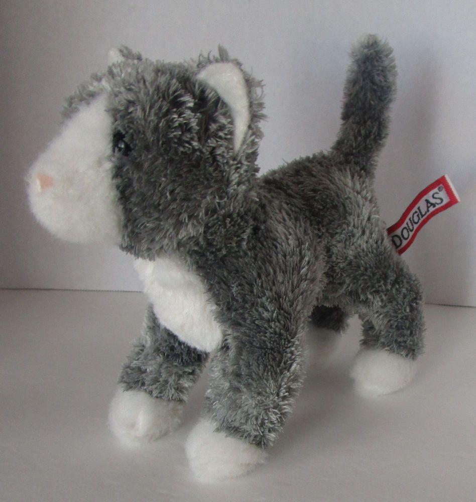 Douglas Cuddle Gray Cat Kitten Toy Plush Stuffed Animal Small 7