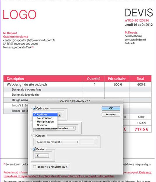 Download Free Indesign Invoice Template – Indesign Invoice Template
