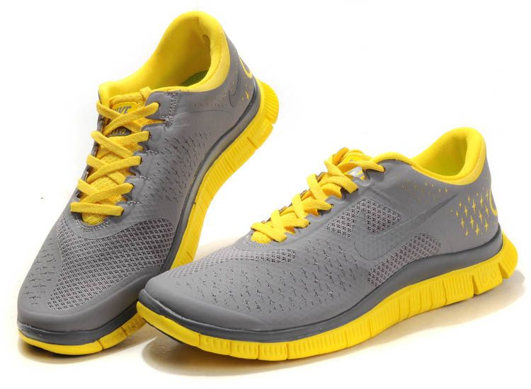 f3ac284eb3d4 2012 New Nike Free 4.0 v2 Mens Running Shoes - Grey Yellow