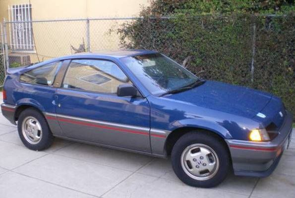 Honda Crx Si 1985 Mine Is Red Fond Memories From The Past