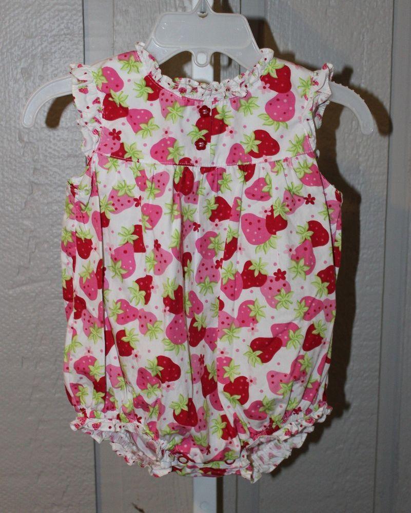 a1c9bd3f8878 KOALA BABY 6 9 Months White Pink Strawberries Sleeveless Bubble ...