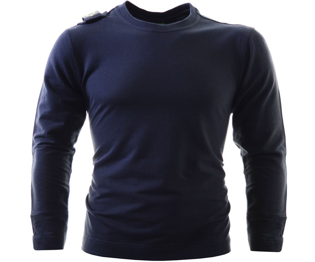 4a2cf41b0 The Pullover sweatshirt from MA.Strum is cut with a ribbed crew neck and is