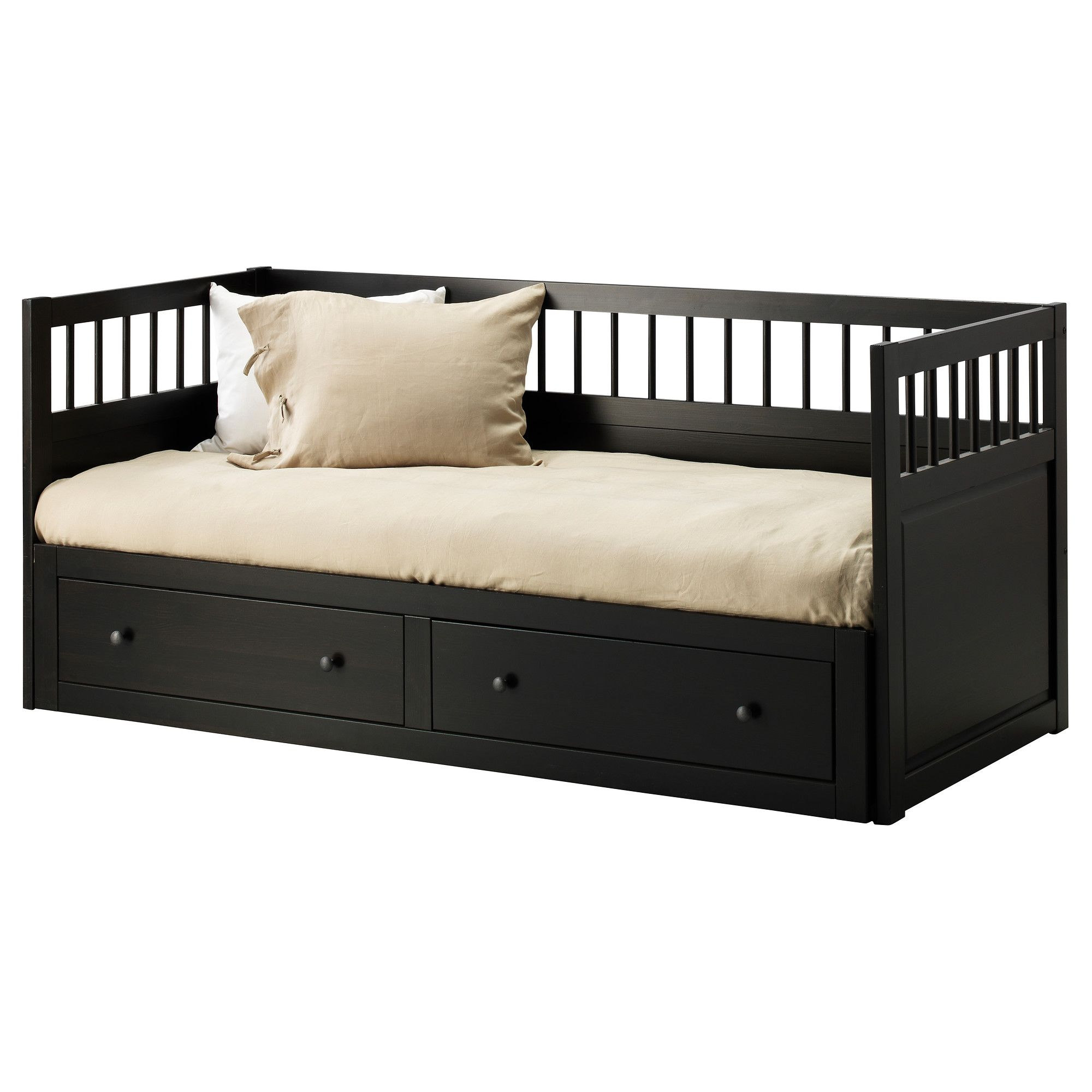 HEMNES Daybed frame with 2 drawers IKEA for when the kiddies are sick and need Mommy and Daddy