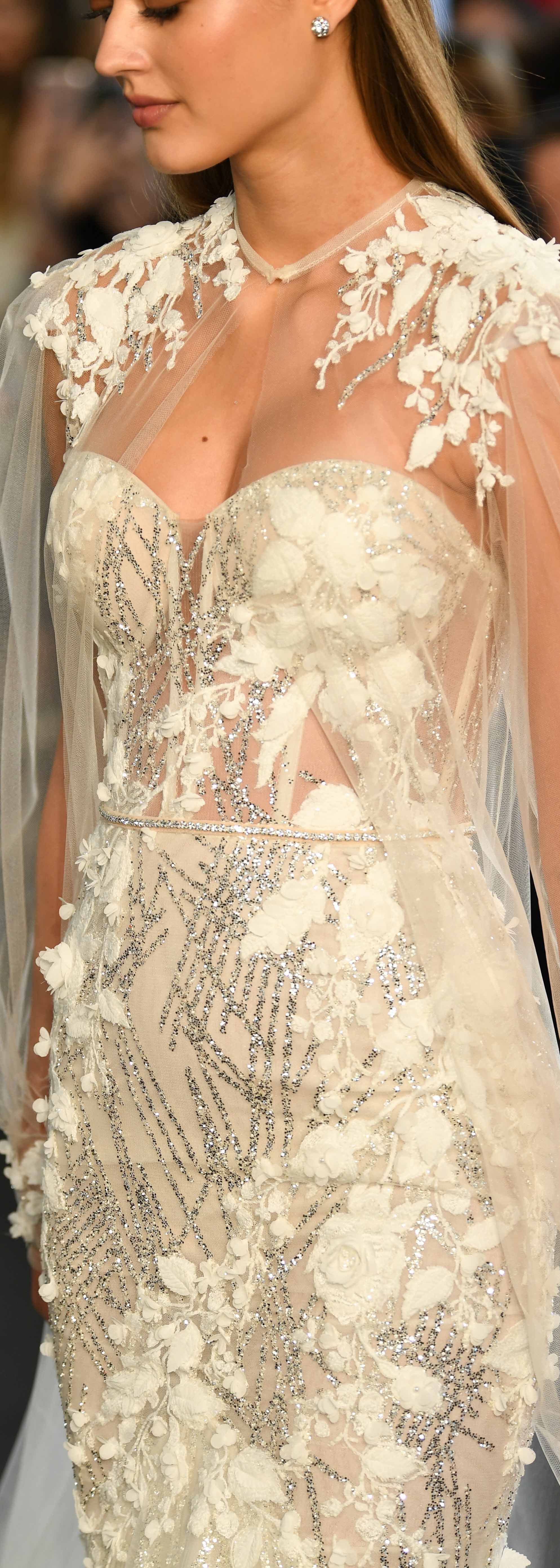 Wedding dress short in front with long train  Pin by BERTA on BERTA Events u Runways  Pinterest  Runway Wedding