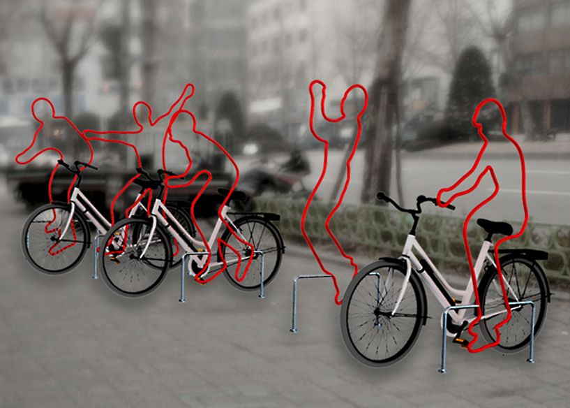 A fun bike rack for school or business.> Bike rack art design competition - Google Search
