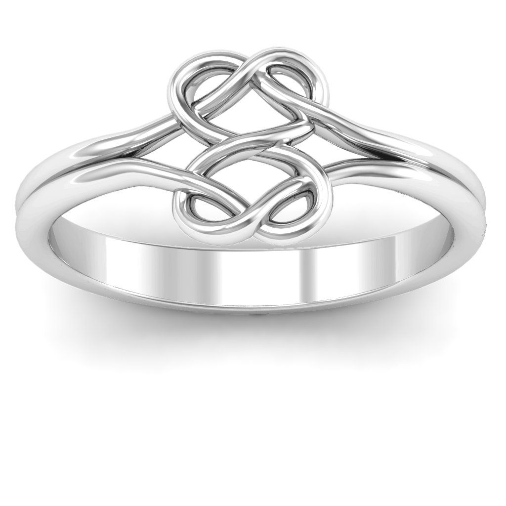 10k or 14k Available Gold Infinity with Heart Ring