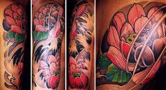 Fiore di loto (Veracruz Tattoo) Tags flower japan tattoo composition  torino japanese lotus cruz di oriental shoulder fiore vera sleeve giappone  loto