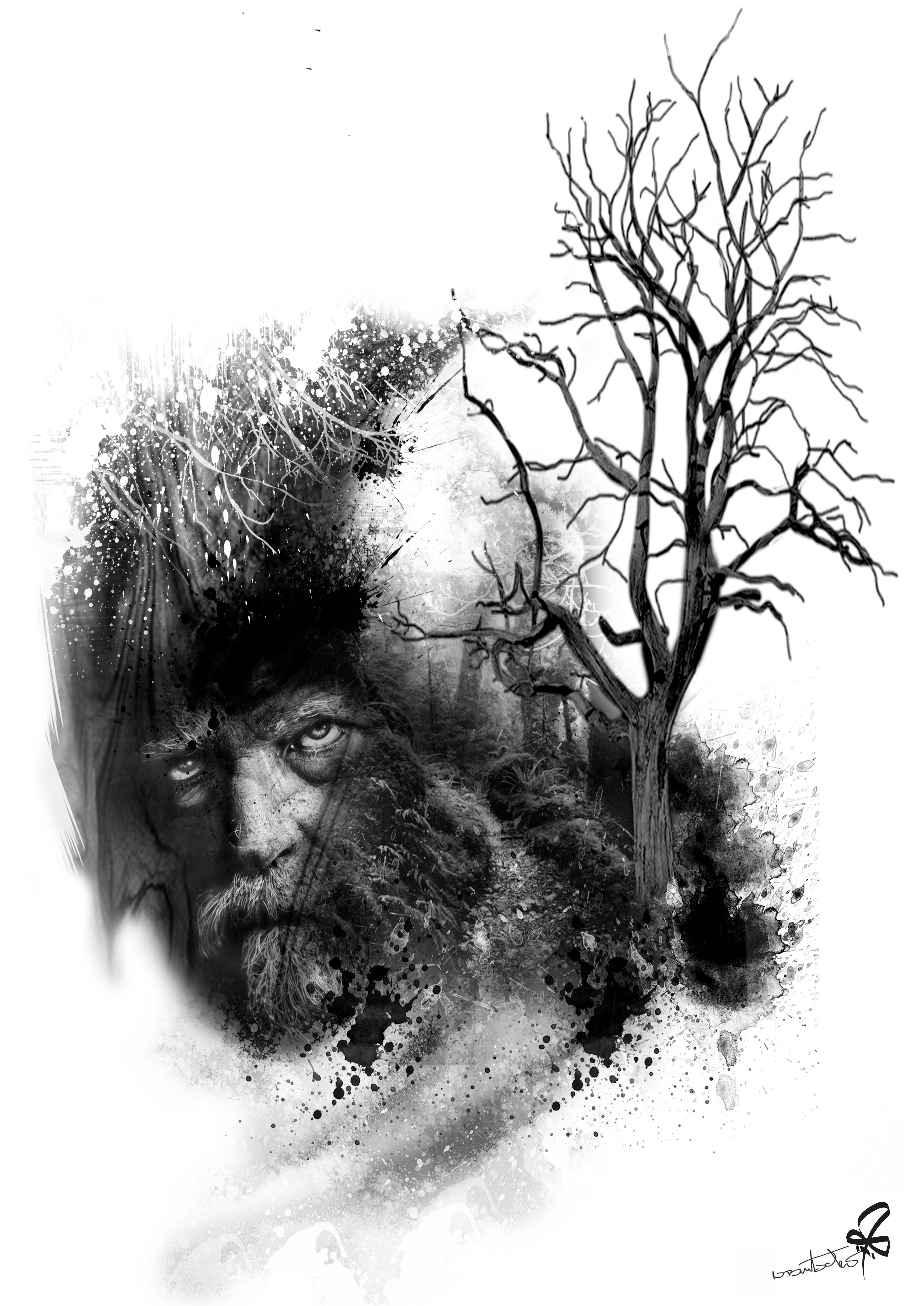 Photoshop, Collage, Tattoo, tree, Burtscher N. | art | Pinterest ...