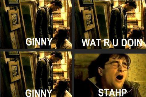Ginny Stahp Xd Harry Potter Memes Hilarious Funny Pictures Flirting Memes