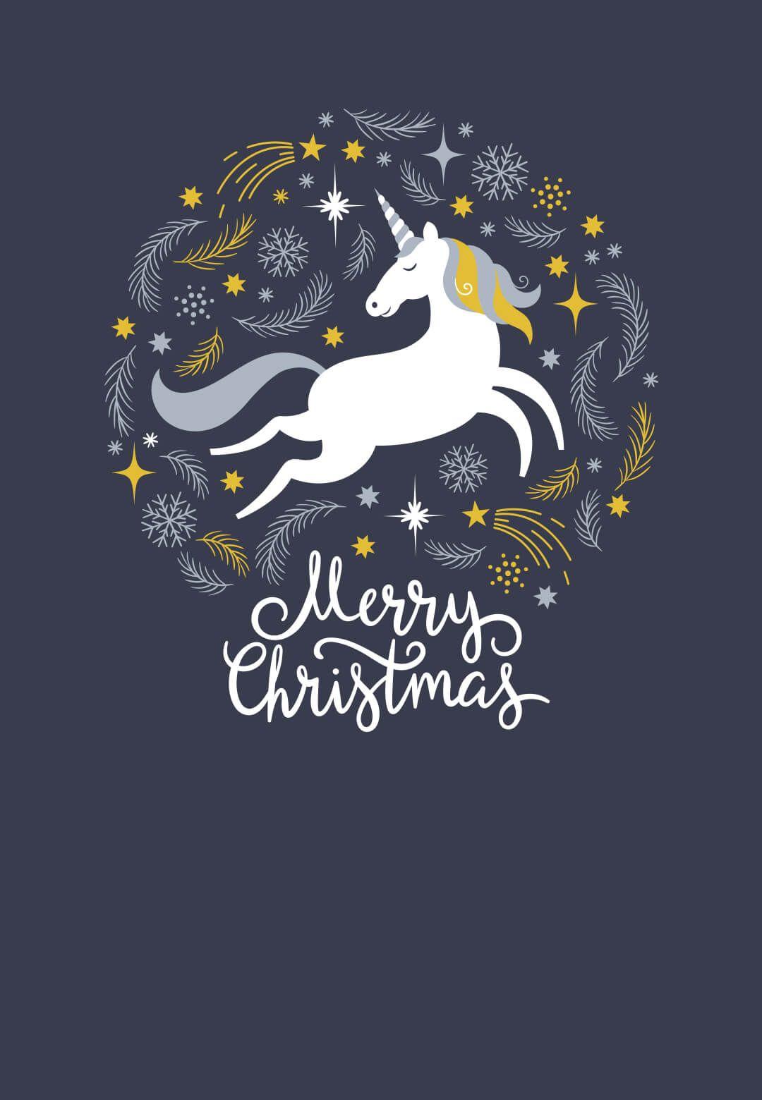Christmas Unicorn Free Printable Christmas Invitation Template Greetings Island Christmas Unicorn Christmas Invitations Template Free Christmas Printables
