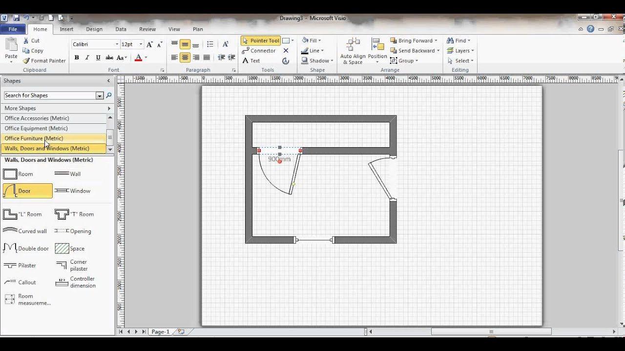 Floor Plan Using Visio Create floor plan, Architectural