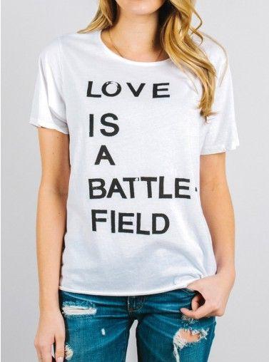 Love Is A Battlefield Tee #JFClothing