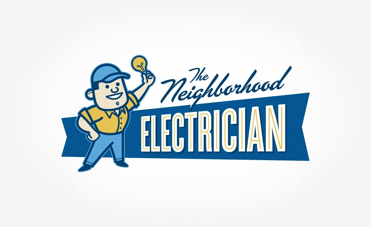 Neighborhood Electrician Graphic D Signs Retro Logo Design Vintage Logo Design Retro Logos