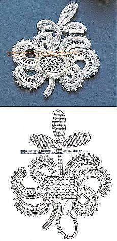 Irish crochet lace motifs patterns #irishcrochetmotifs Irish crochet lace motifs patterns #irishcrochetmotifs
