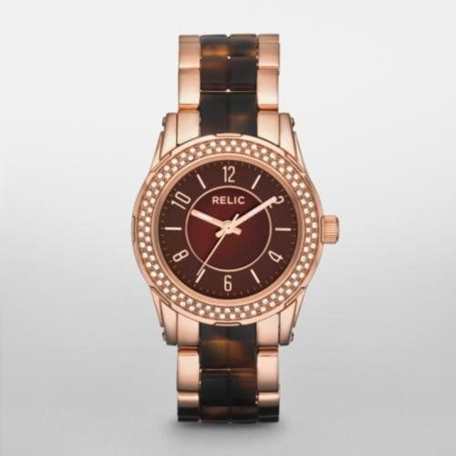 RELIC Hannah Rose Gold-Tone and Tortoise Glitz Watch Relic. $42.00. A little glitz around the dial gives this two-tone rose and tortoise resin watch just the right amou. Save 70% Off!