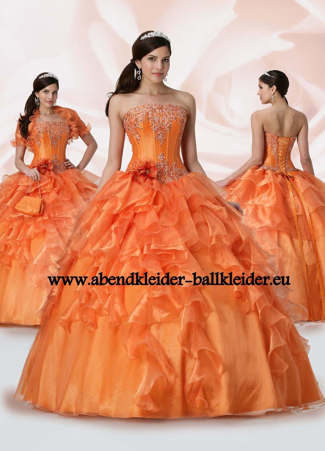 Hübsches Abend - Ballkleid Online in Orange  Ballkleid