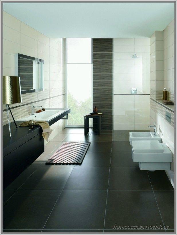 kleines bad in beige und taupe - dusche mit glasabtrennung | bad ... - Anthrazit Fliesen Bad
