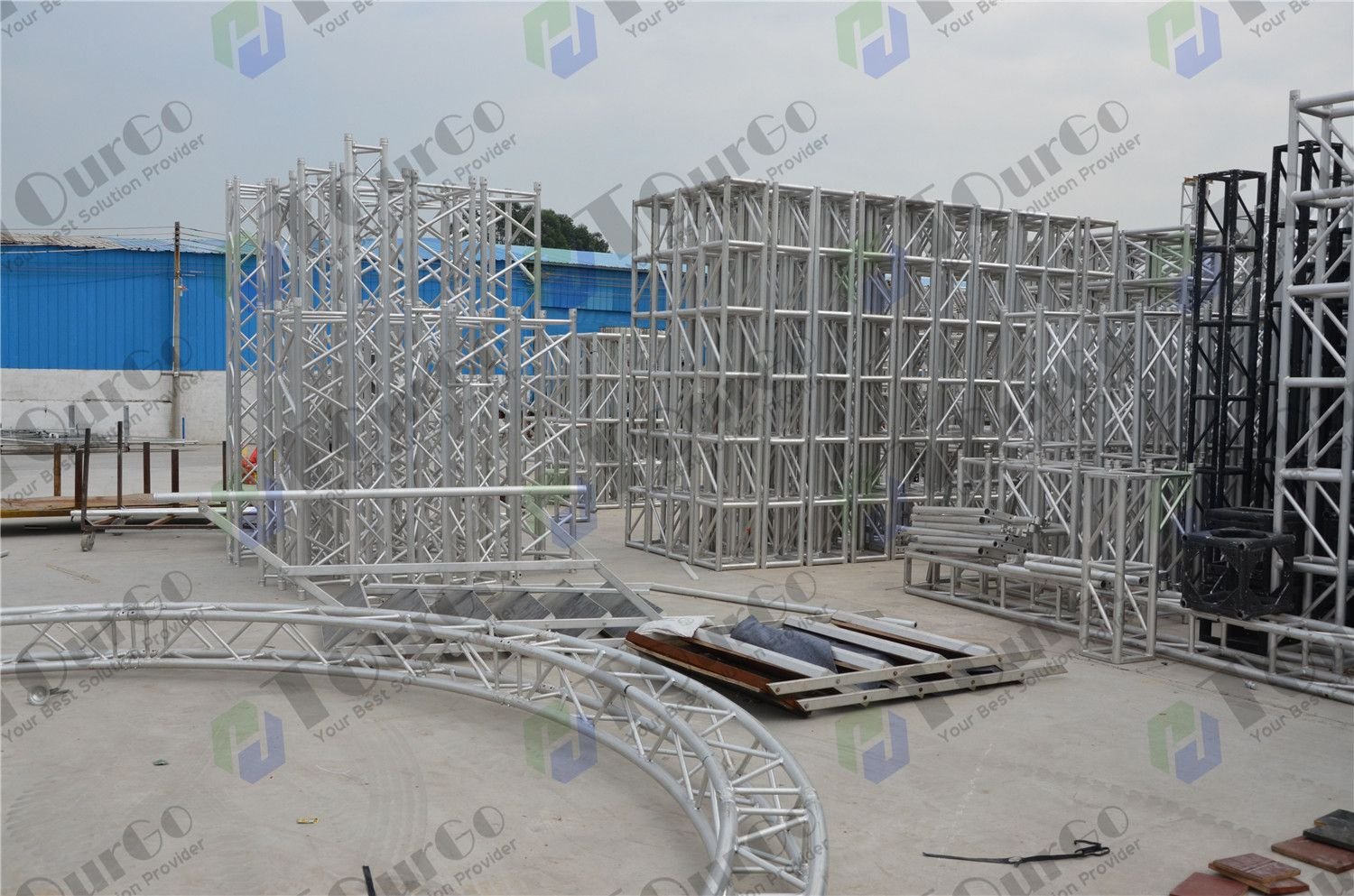 foldable t complete lighting system triangular portable truss prox