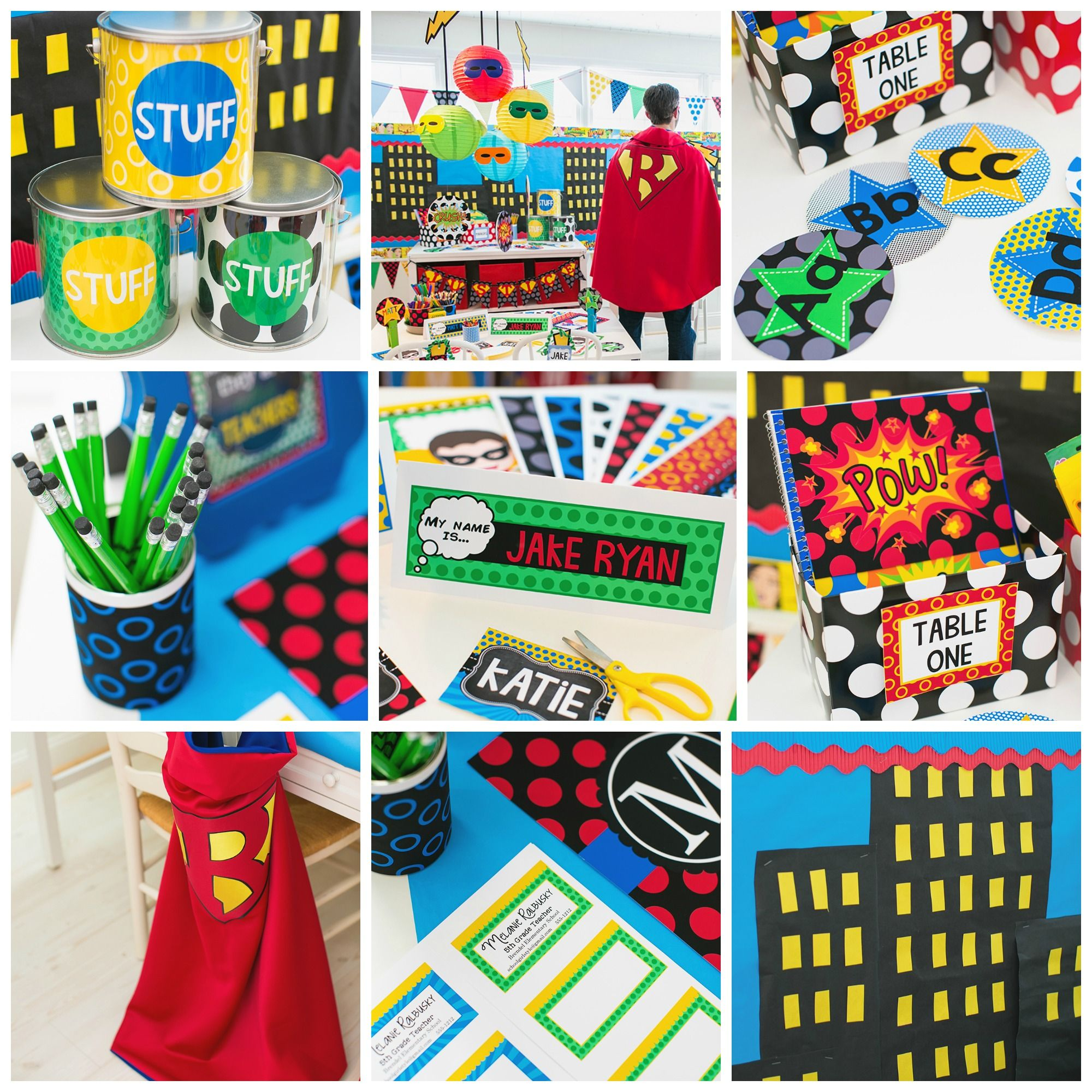 Schoolgirl Superhero Superhero Polka Dots Classroom Theme