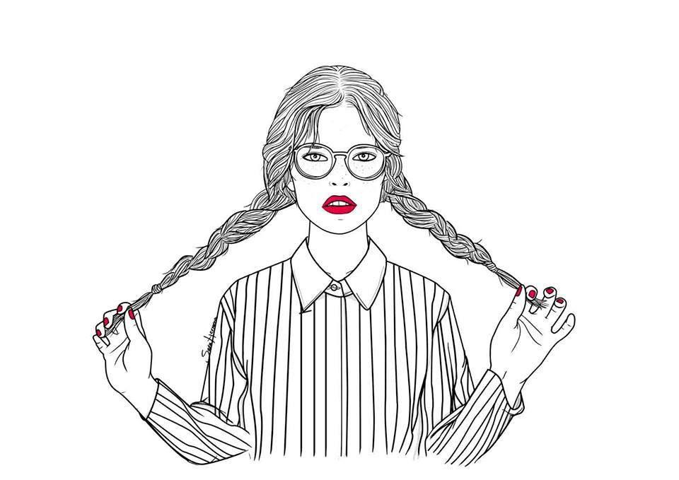 Mamma mia les illustrations deSara Herranz.Qu'elles sont belles! Avec toujours des traits graphiques et esthétiques,cette jeune illlustratrice espagnole imagine des personnages à l'é…