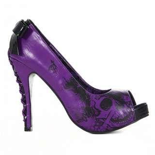 Purple skull pumps