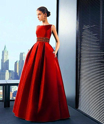7bebc5ae46 Royal Export Women's Red Tafeta Silk Party Wear Semi-Stitched Gown: Amazon. in