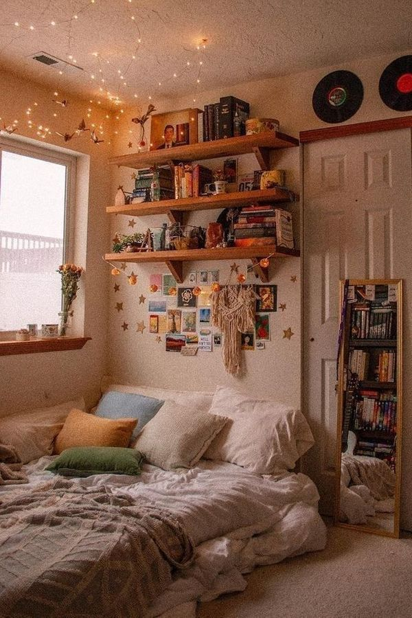 Home Bedroom House Bookcase Aesthetics Shelf Furniture Interior Design Building House Home S Aesthetic Bedroom Room Inspiration Bedroom Aesthetic Rooms