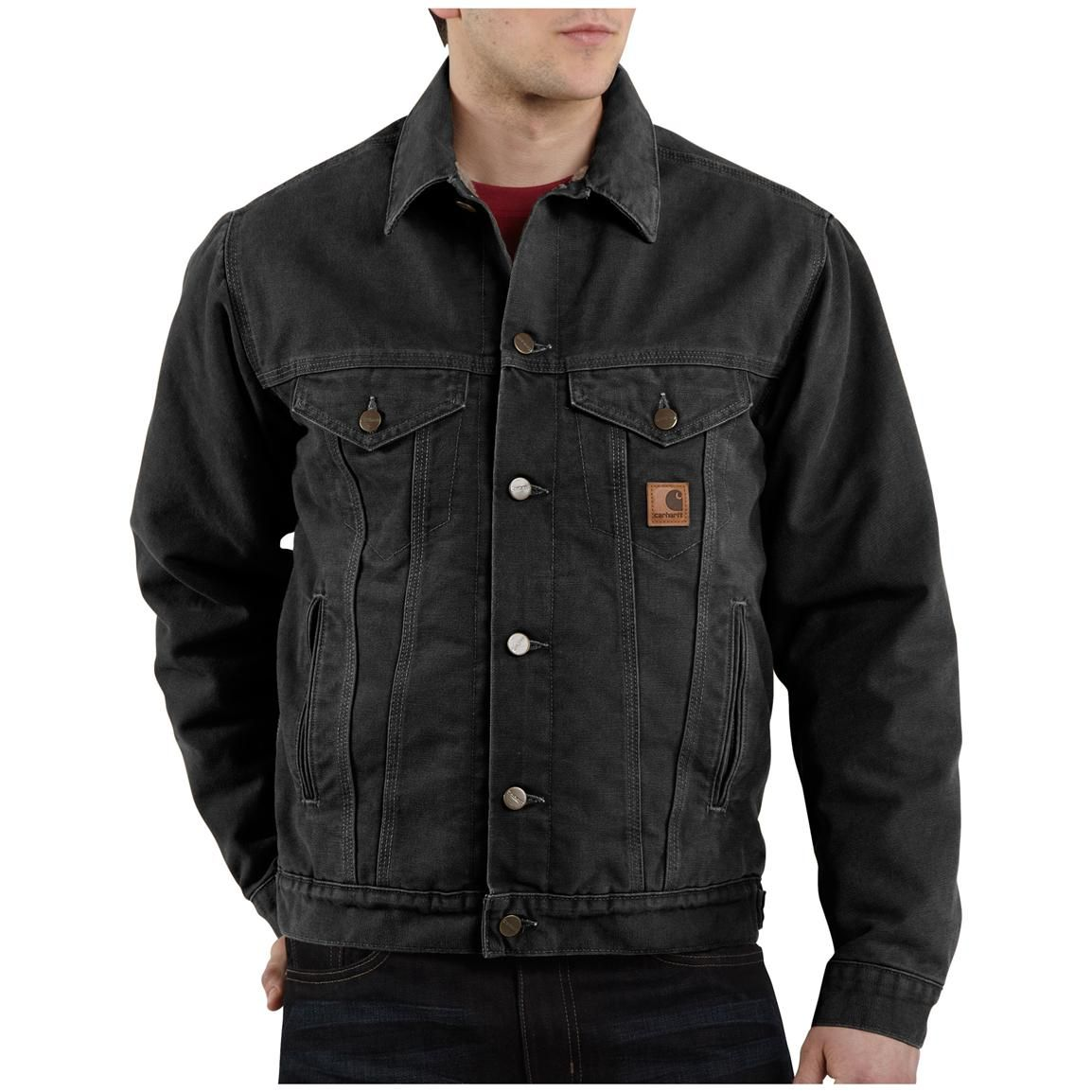 Men's Carhartt® Sandstone Jean Jacket | Jackets, Products and Workwear