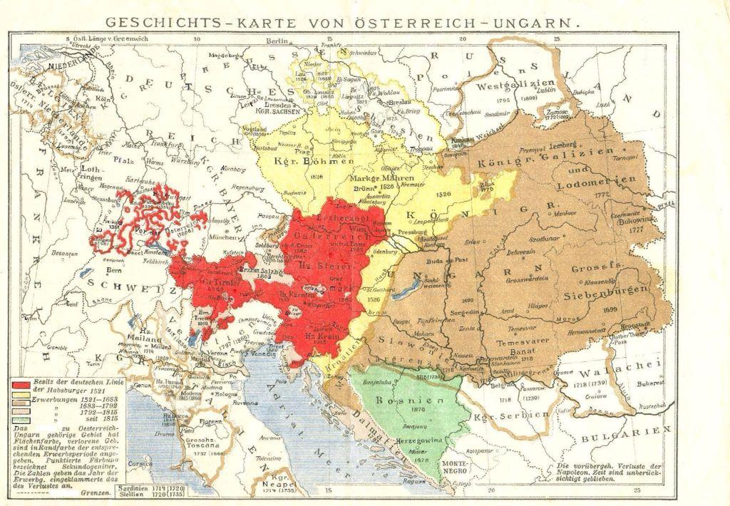 Karte Von Osterreich Ungarn Osterreich Ungarn Geschichte