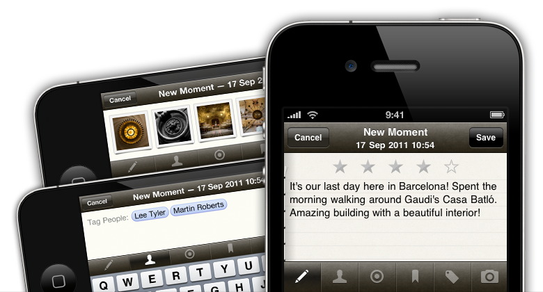 Momento - diary writing for iPhone and iPod touch - KELL!!! :)
