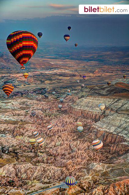 Kapadokya'da balon turu sizleri bekliyor. http://www.biletbilet.com/etiket/5/otobus-bileti