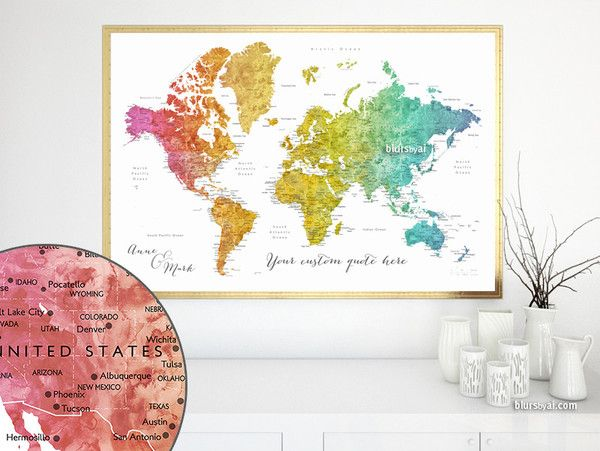 Personalized map boyfriend gift travel lover gift gift for him personalized map boyfriend gift travel lover gift gift for him gift idea gumiabroncs Image collections