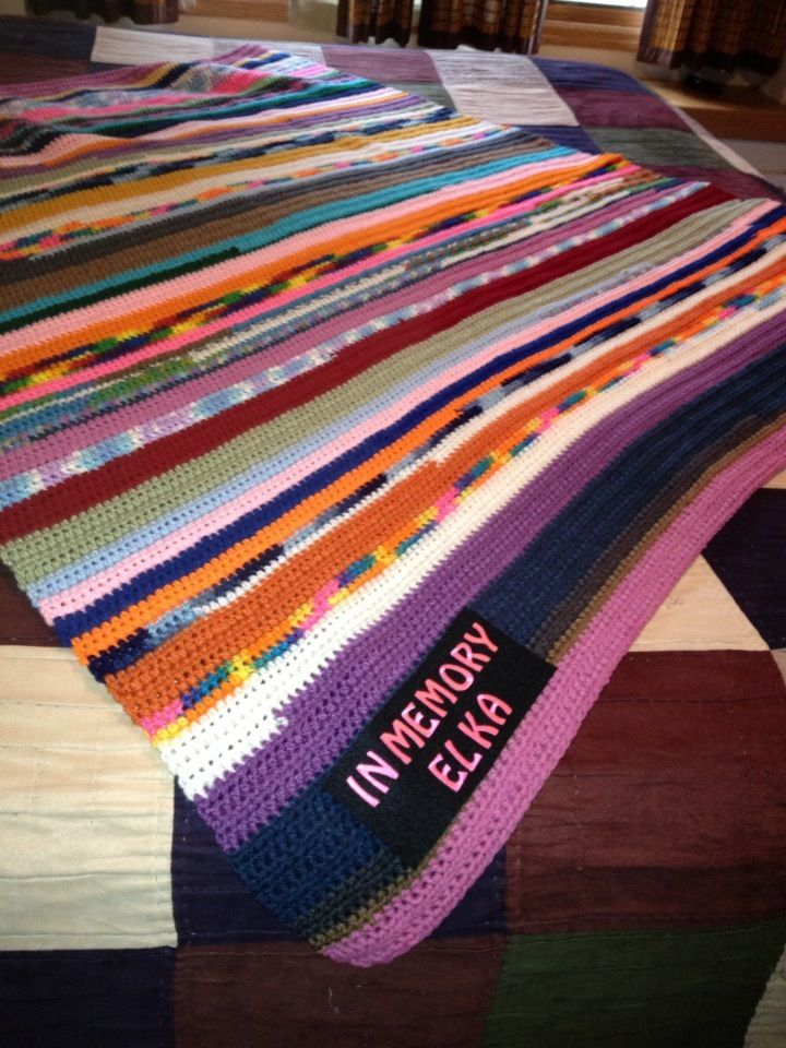 Scrap Yarn Crochet Afghan-made for animal shelter | tejidos ...