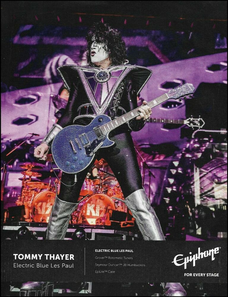 Kiss Tommy Thayer Signature Epiphone Les Paul Guitar Advertisement 2020 Ad Print Epiphone In 2020 Les Paul Guitars Les Paul Epiphone