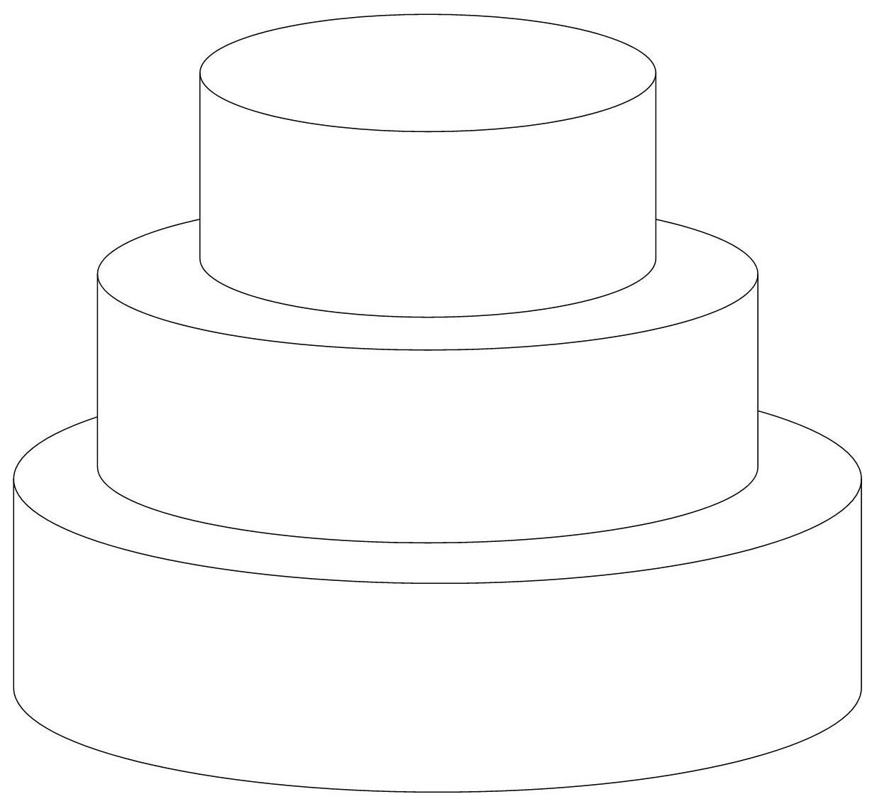 Round 3 Tiers Templates Pinterest Cake
