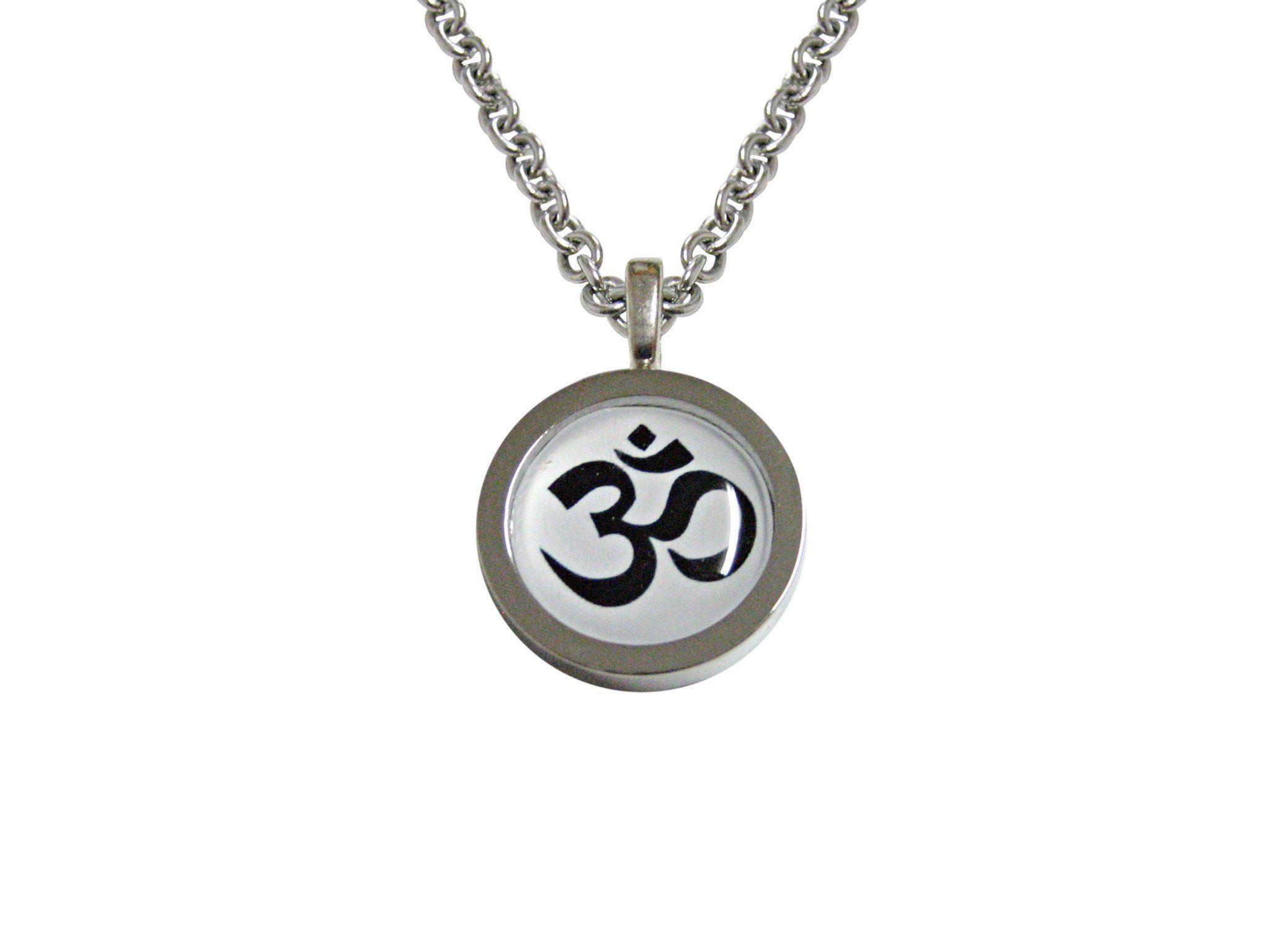 Bordered Spiritual Om Mystic Symbol Square Tie Clip