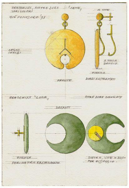 Gio pomodoro jewellery rendering gioielli design di for Design di gioielli