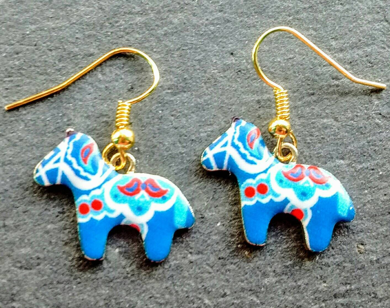 Dala horse earrings horse earrings scandi horse earrings pony dala horse earrings horse earrings scandi horse earrings pony earrings boho earrings negle Image collections