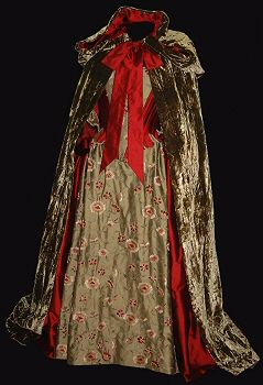 rossetti costumes  bridal gowns  red 18th century corset
