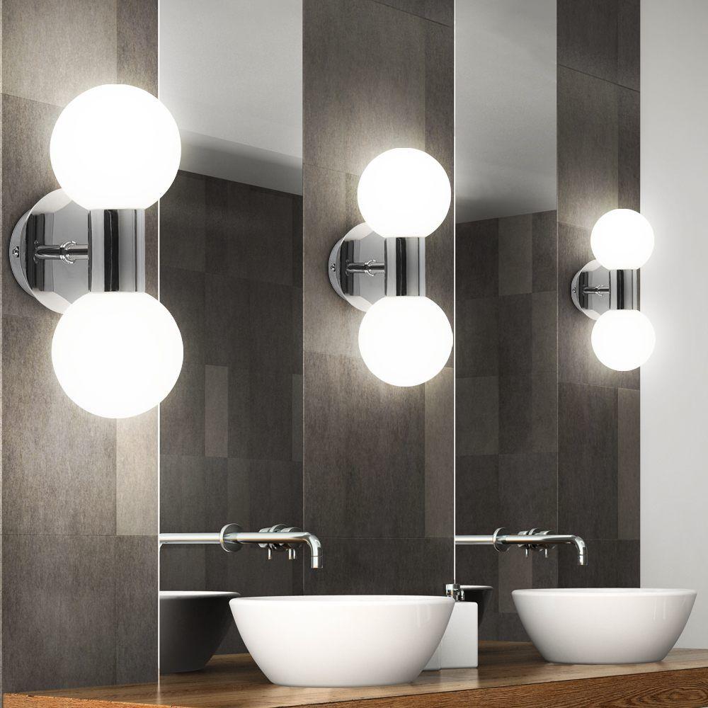 11 Er Set Wandlampe Badezimmer Leuchte Lampe Bad Licht Beleuchtung Eintagamsee Moderne Weisse Badezimmer In 2019 Bathroom Lighting Bathroom Mirror