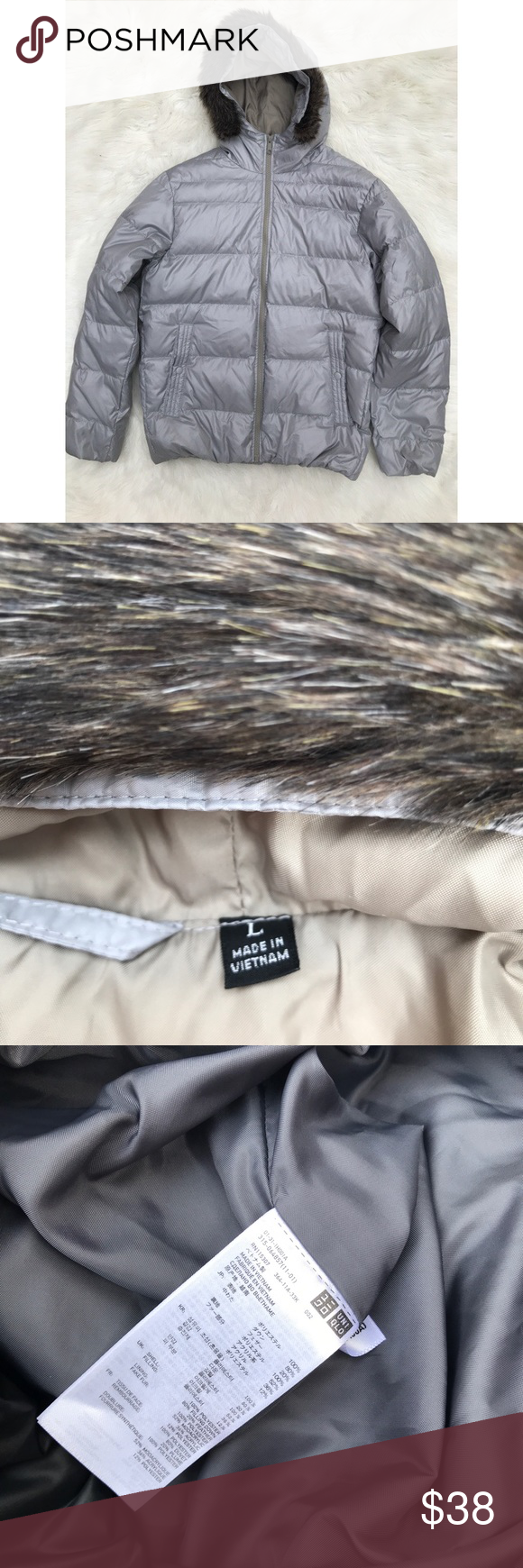 Men's Uniqlo Light Puffer Jacket with Hood Jackets