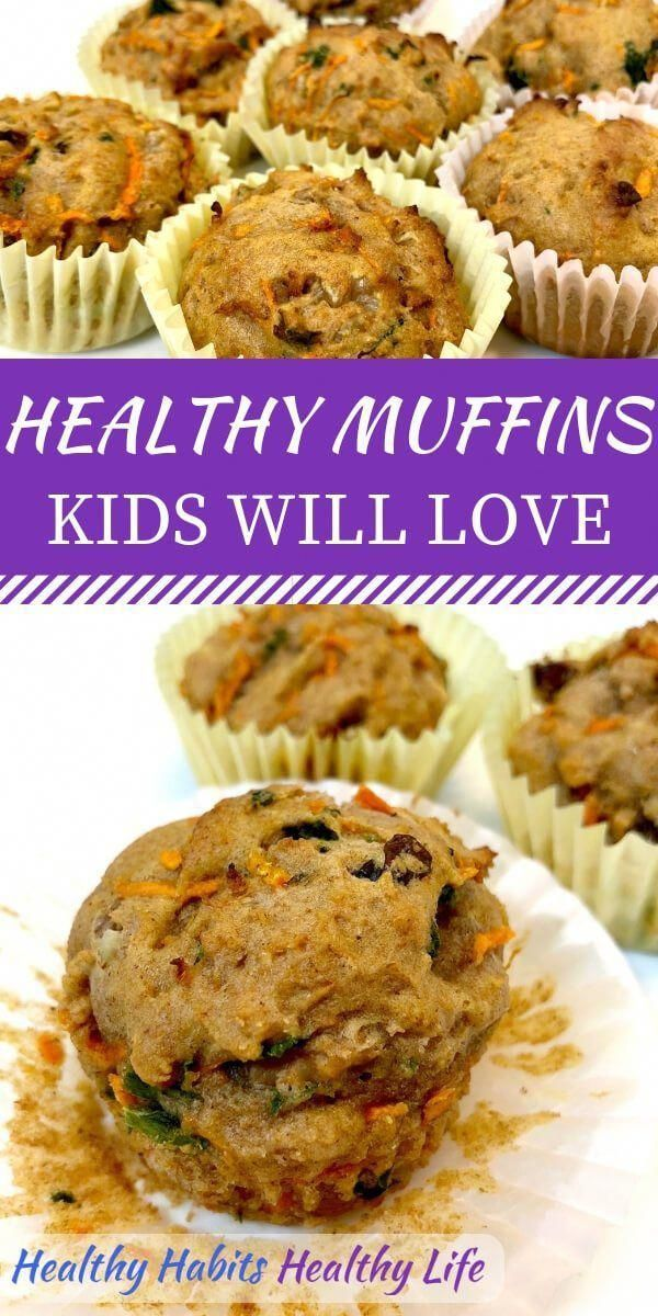 Awesome healthy muffin recipes for kids, with hidden veggies. Great for picky ea… – Carey&CleanEatingS