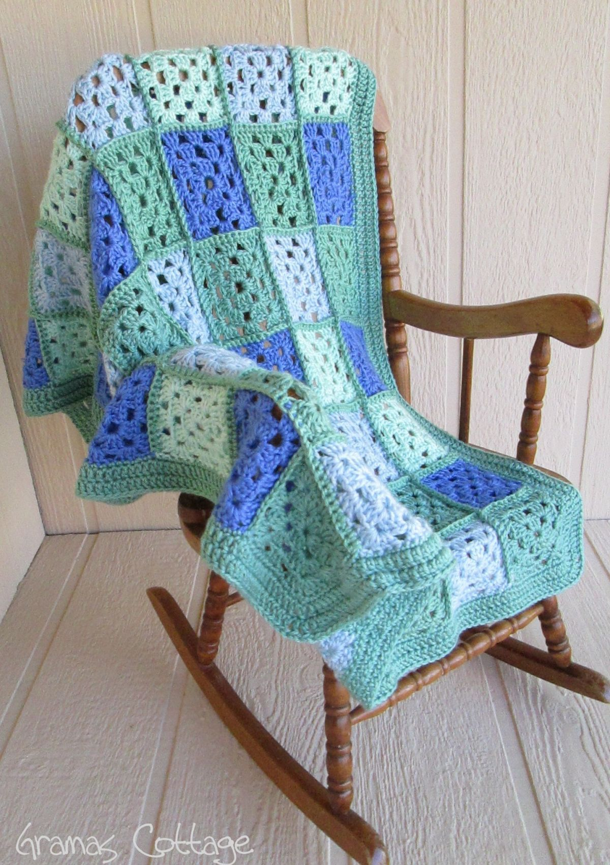 Old fashioned baby blanket   By Gramas Cottage