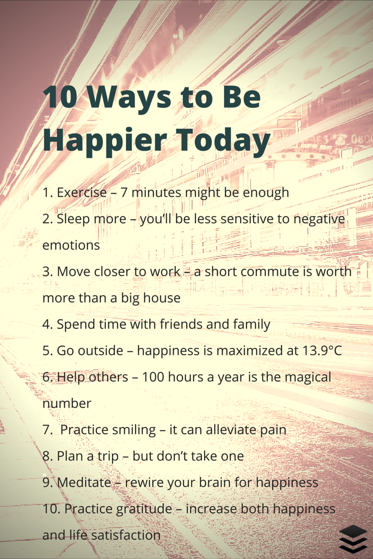 10 Simple Things You Can Do Today That Will Make You Happy ...